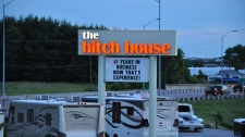 The Hitch House sign as seen several years ago