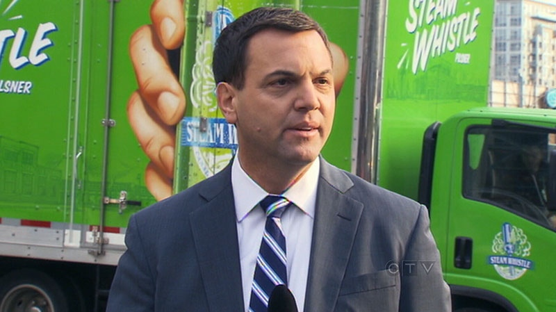 PC Leader Tim Hudak talks about eradicating the LCBO and allowing the private sector to sell alcohol, Tuesday, Dec. 4, 2012.