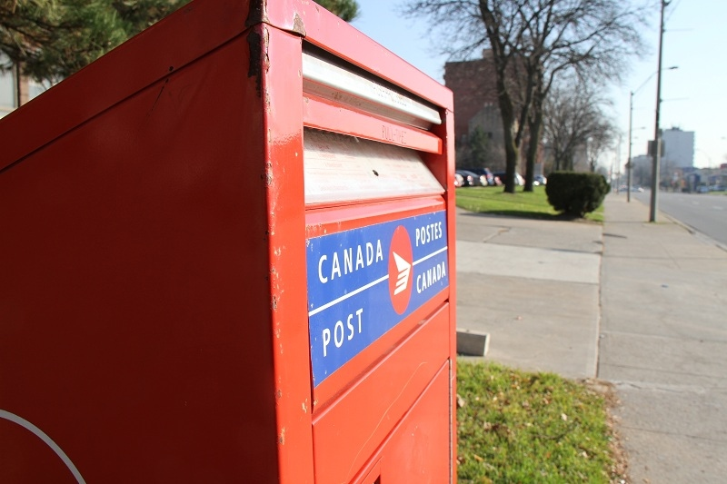 File photo of a Canada Post mailbox taken in Windsor. Ont. (Melanie Borrelli / CTV Windsor)
