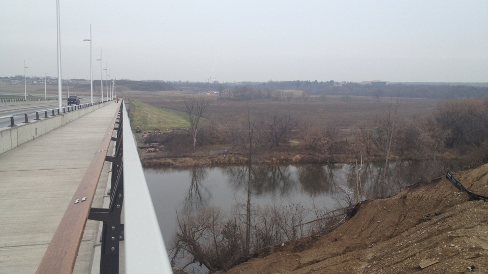 View of the Grand River from the new Fairway Road bridge. -- Dec. 7, 2012