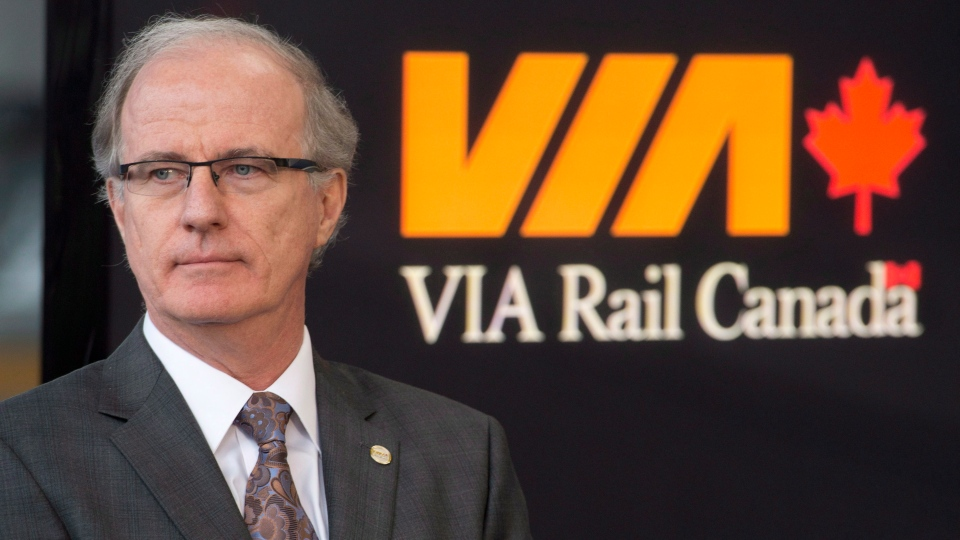 Marc Laliberte, President and Chief Executive Officer of VIA Rail takes part in an announcement in Ottawa on Monday, December 3, 2012. (Adrian Wyld / THE CANADIAN PRESS)