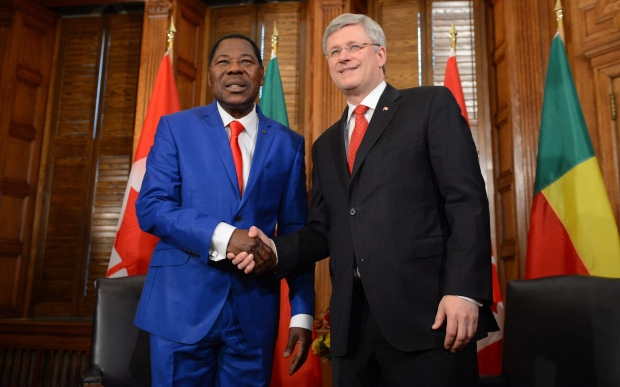 Harper and head African Union discuss Mali crisis
