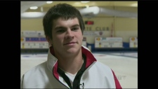 Aaron Squires will curl at Canadian Junior finals.