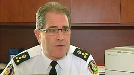 Guelph police Chief Rob Davis discusses the launch of an internal investigation in Guelph on Wednesday, Jan. 12, 2011.