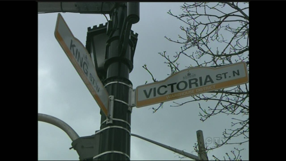 The corner of King and Victoria in Kitchener could potentially be the busiest intersection in the region once the proposed transit hub is built.