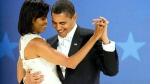 U.S. President Barack Obama dances with first lady Michelle Obama at the Midwestern Ball on the night of his inauguration in Washington, Jan. 20, 2009. (AP / Manuel Balce Ceneta)