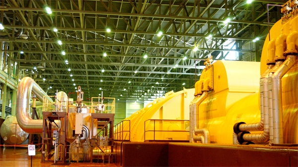 The Bruce B turbine hall is seen in this image courtesy Bruce Power.