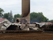 Oxford County barn fire
