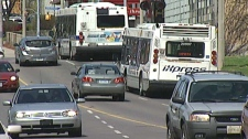 Traffic moves along King Street in Kitchener, Ont. on Monday, May 9, 2011.