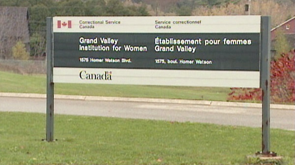 The Grand Valley Institution for Women is seen in Kitchener, Ont. in this undated image taken from video.