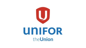 The logo for Unifor, the merged Canadian Auto Workers Union (CAW) and Communications, Energy and Paperworkers Union (CEP), is shown. (The Canadian Press/HO)