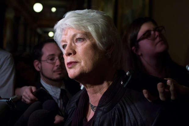New Ontario Education Minister Liz Sandals scrums