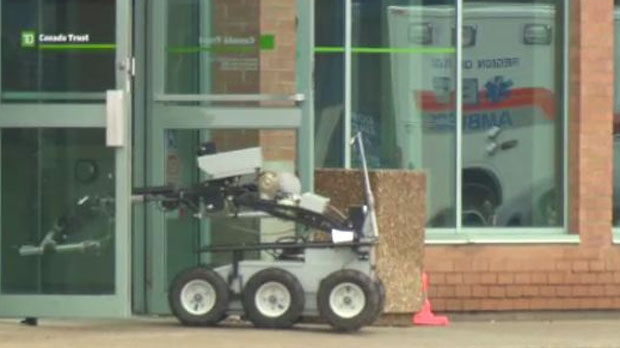 A bomb disposal unit was brought in to determine if an item left behind was dangerous. -- July 4, 2013