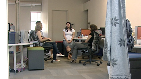 Desire2Learn employees are seen in this file photo. (CTV Kitchener)