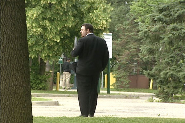Constable Christopher Knox leaves court on June 29, 2011.