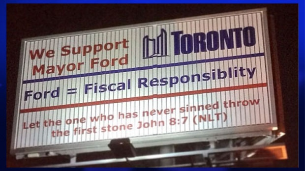 toronto investigates use of city logo on prorob ford