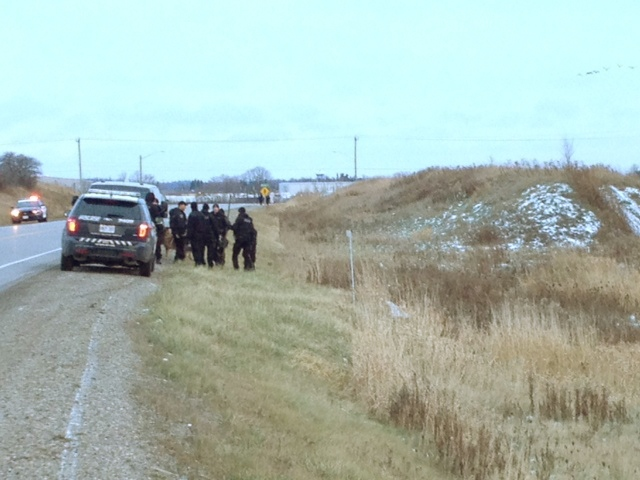 Police searched fields and forests near Breslau for a man who ran out of a house and away from officers wearing only underwear on Wednesday, Nov. 27, 2013. (Kevin Doerr / CTV Kitchener)