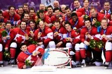 Canada wins gold men's hockey