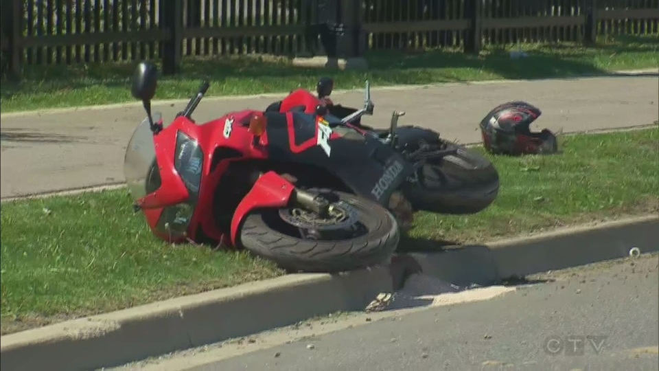 A 31-year-old man who crashed this motorcycle in Vaughan in May 2014 later died in hospital.