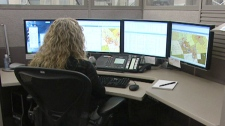 Lisa Muhlbock works at the 911 Call Centre at police headquarters in Waterloo Region.
