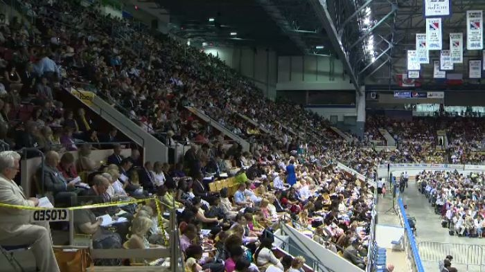 Thousand gather at a Jehovah's Witnesses Convention at the Kitchener Auditorium Sunday, June 15. (CTV Kitchener / Alexandra Pinto)