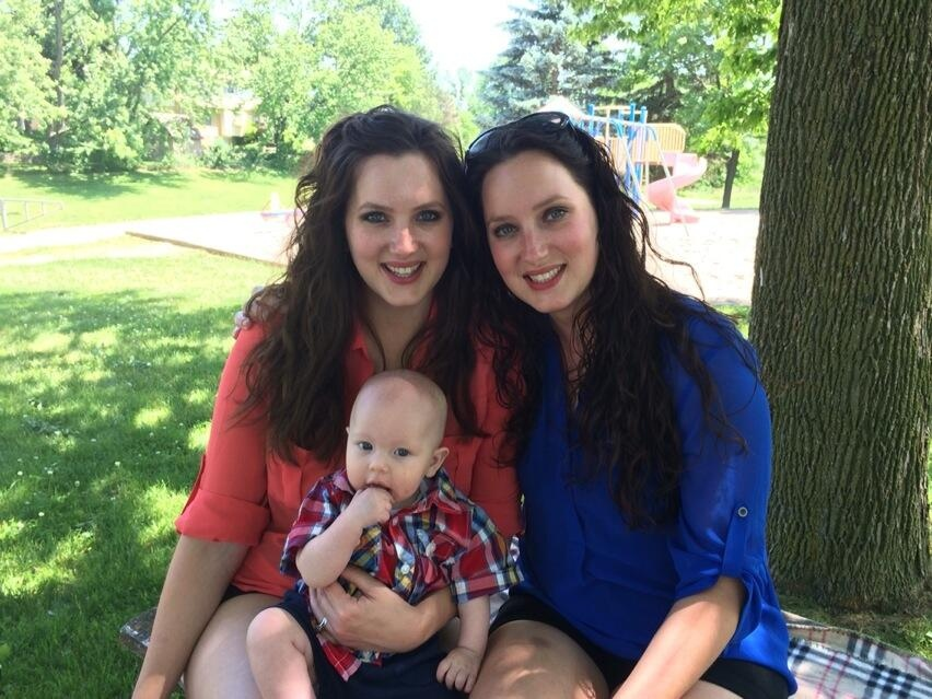 It's been a unique journey from 'Three Men and a Baby' to two sisters with a baby for Lisa Blair and Michelle Blair-Ontonovich. (Krista Simpson / CTV Kitchener)