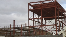 Construction of the new theatre in Cambridge, Ont. continues on Tuesday, Jan. 10, 2012.