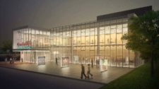 An artist's rendering shows the Cambridge Performing Arts Centre, which will be home to Drayton Entertainment.