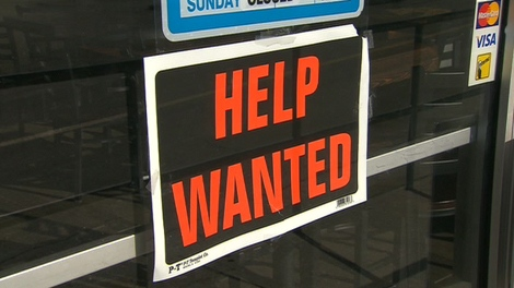 "A ""help wanted"" sign is seen on a Toronto-area business on Monday, Feb. 20, 2012."