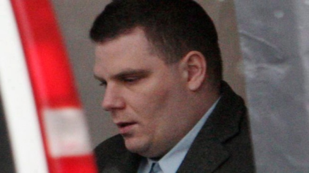 Michael Rafferty leaves the courthouse in Woodstock, Ont., on Monday, Feb. 7, 2011. (Dave Chidley / THE CANADIAN PRESS)