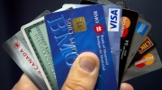 Credit cards are displayed in Montreal on Dec. 12, 2012. (Ryan Remiorz / THE CANADIAN PRESS)