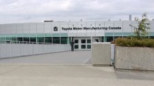 The Toyota Canada production plant in Woodstock, Ont. is seen on Wednesday, March 28, 2012.