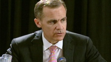 Bank of Canada Governor Mark Carney speaks in Waterloo, Ont. on Monday, April 2, 2012.