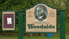 The sign at the Woodside National Historic Site is seen in Kitchener, Ont. on Monday, April 30, 2012.