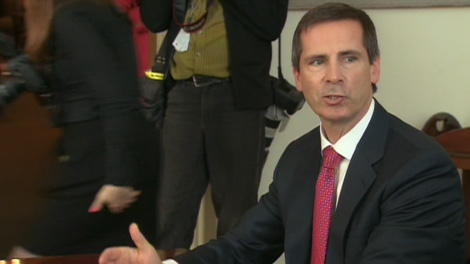 Ontario Premier Dalton McGuinty speaks with reporters on Friday, May 4, 2012.