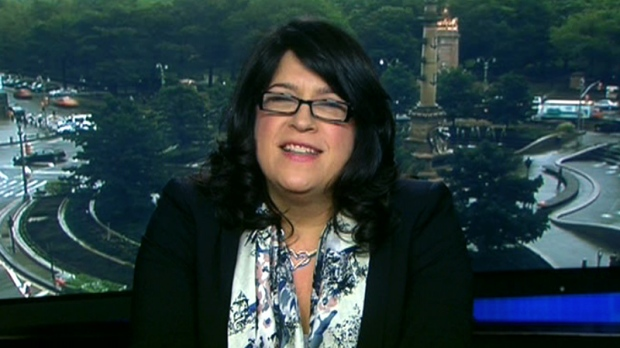 E.L. James speaks to Canada AM about the success around her best-selling erotic fiction trilogy, '50 Shades of Grey,' Friday, May 11, 2012.