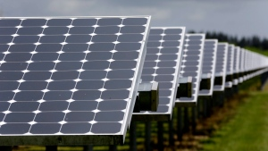 In this file photo, solar panels in Merritt Island, Fla., are seen on Wednesday, May 13, 2015. (AP / John Raoux)