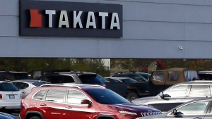 This Oct. 22, 2014, file photo, shows the North American headquarters of automotive parts supplier Takata in Auburn Hills, Mich. (AP Photo/Carlos Osorio, File)