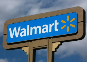 This May 28, 2013, file photo shows signage outside a Wal-Mart store in Duarte, Calif. (AP / Damian Dovarganes )