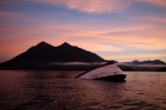 The bow of the Leviathan II, a whale-watching boat owned by Jamie's Whaling Station, is seen near Vargas Island looking towards Cat Face Island as it waits to be towed into town for inspection in Tofino, B.C. on Tuesday, Oct. 27, 2015. (Chad Hipolito / THE CANADIAN PRESS)