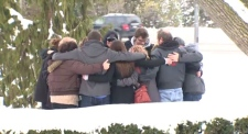 Friends and family of Nicole Wagler embrace