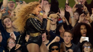 Beyoncé performs during halftime of the NFL Super Bowl 50 football game Sunday, Feb. 7, 2016, in Santa Clara, Calif. (AP Photo / Charlie Riedel)