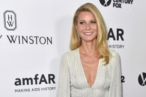 Gwyneth Paltrow arrives at the amfAR Inspiration Gala at Milk Studios on Thursday, Oct. 29, 2015, in Los Angeles. (Jordan Strauss/Invision/AP)