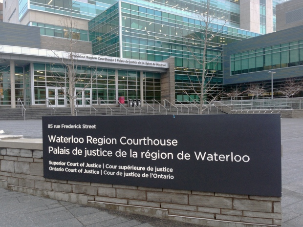 The Waterloo Regional Courthouse in downtown Kitchener is pictured on Tuesday, Feb. 9, 2016. (Dan Lauckner / CTV Kitchener)