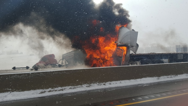 401 truck fire 2