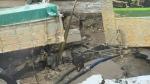 CTV Kitchener: Truck caught in sinkhole