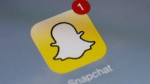 The Snapchat logo is seen in this file image. (AFP PHOTO / LIONEL BONAVENTURE)