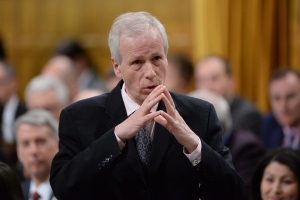 Foreign Affairs Minister Stephane Dion answers a question during Question Period in the House of Commons in Ottawa on April 20, 2016. (Adrian Wyld / The Canadian Press)