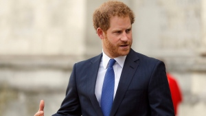Prince Harry at Westminster Abbey in London in this file photo from Tuesday, April 12, 2016.  (AP /Frank Augstein)