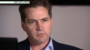 Craig Wright in London, seen in a framegrab made available by the BBC on May 2, 2016. (BBC News via AP)